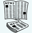 Newspaper news vector image