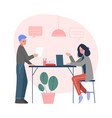 office emloyees business characters working in vector image vector image