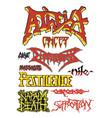 old school death metal vector image vector image