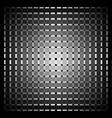 Optical art grid in black and grey with white dots vector image vector image