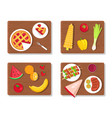 pie and summer picnic set vector image