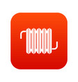 radiator icon digital red vector image vector image