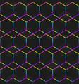 rainbow mosaic frames seamless pattern vector image vector image