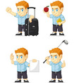 Red Head Boy Customizable Mascot 6 vector image