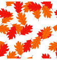 red oak autumn leaves background