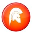 Roman helmet icon flat style vector image vector image