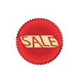 Sale red circle icon cartoon style vector image vector image