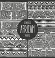 Set of 4 seamless ethnic patterns monochrome vector image