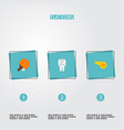 set of activity icons flat style symbols with ping vector image