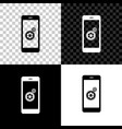 setting on smartphone screen icon isolated on vector image vector image