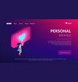sharing content online isometric 3d landing page vector image vector image