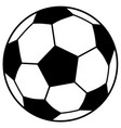 simple soccer ball vector image vector image
