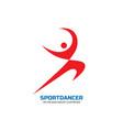 sport dance - logo template concept vector image
