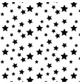 star background seamless black vector image vector image