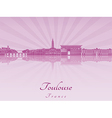 Toulouse skyline in purple radiant orchid vector image vector image