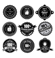 vintage styled labels vector image vector image