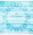 vintage watercolor frame vector image vector image