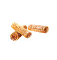 waffle rolls watercolor on a white background vector image vector image