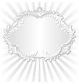 white background with decorative floral frame vector image