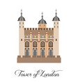 with the beautiful tower of london vector image
