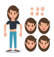 woman character set vector image vector image