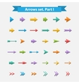 Big set arrows in flat style vector image