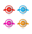 Discount Stickers Labels Isolated on White vector image
