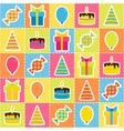 Seamless pattern with elements of birthday party - vector image