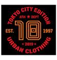 tokyo sport t-shirt design vector image