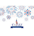 4th july usa independence day design vector image vector image