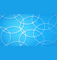 abstract background intersecting circles vector image