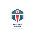 abstract human character - logo template vector image vector image