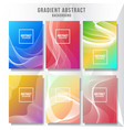 abstract layout cover background collection vector image vector image