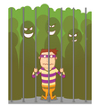 Bullying in a jail vector image vector image