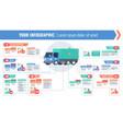 cargo logistic horizontal infographic vector image