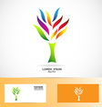 Colors tree logo vector image vector image