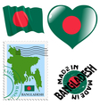 colours of Bangladesh vector image