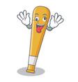 crazy baseball bat character cartoon vector image vector image