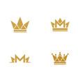 crown logo template vector image vector image