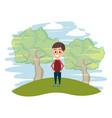 cute child cartoon vector image vector image