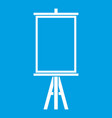 easel icon white vector image