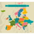 Editable map of Europe with all countries vector image vector image