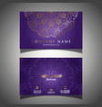 elegant business card template vector image vector image