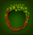 frame of roots and green leaves vector image vector image
