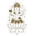Ganesha mehndi vector image