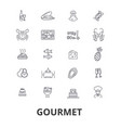 gourmet food chef restaurant dinner wine vector image