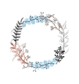 Hand drawn floral wreath vector image vector image