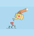 happy valentines day and love concept vector image