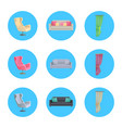 Home interior collection icons vector image