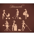 housework vector image